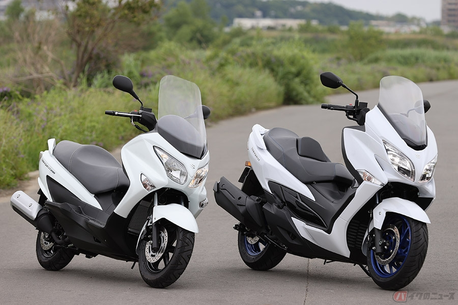 """400 バーグマン 《高速&タンデム編》バーグマン400の""""400ccスクーター""""ならではの快適性は、街乗りよりもツーリングが本領?【個人的スズキ最強説/SUZUKI BURGMAN400"""